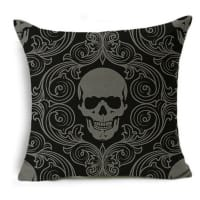 [sv]Kuddöverdrag med Grå Dödskalle[en]Pillow Cover with Grey Skull