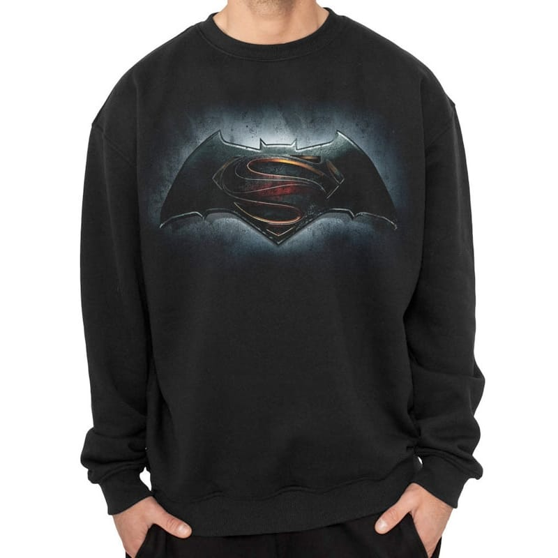 Batman vs Superman Logos Sweatshirt