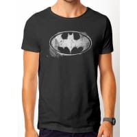Batman Mono Logo Distressed T-Shirt, Medium