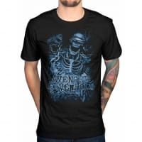 Avenged Sevenfold Chained Skeleton Black T-shirt, Medium