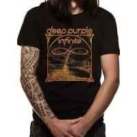 Deep Purple Infinite Multi Color Logo T-Shirt, Medium