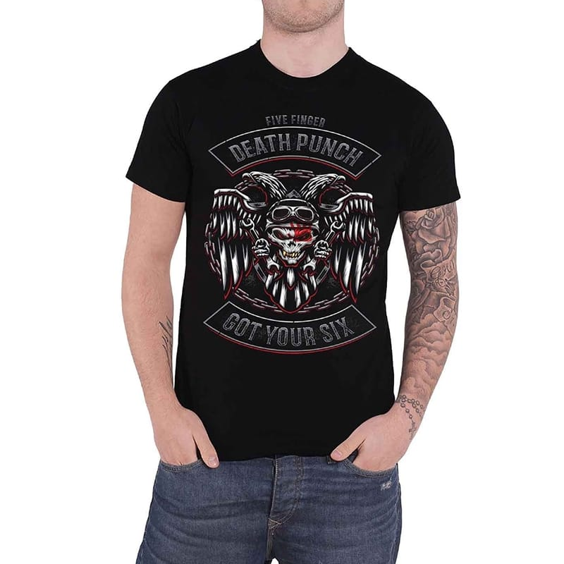 Five Finger Death Punch Biker Got Your Six T-Shirt