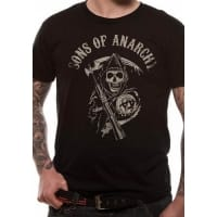 Sons Of Anarchy Reaper Logo T-Shirt, Medium