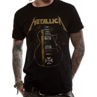 Metallica Hetfield Iron Cross T-Shirt, Medium