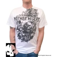 Mother Misery White Scream T-Shirt, Medium