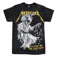 Metallica And Justice For All T-shirt, Medium