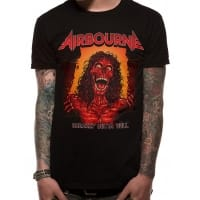 Airbourne Boh Skeleton T-Shirt, Medium
