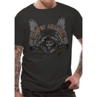 Sons Of Anarchy Winged Logo T-Shirt, Medium