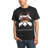 Metallica Master Of Puppets Black T-shirt, Medium