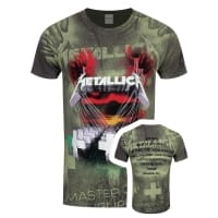 Metallica Master Of Puppets All Over T-Shirt, Medium