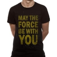 Star Wars Force Text T-Shirt, Medium