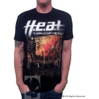 H.E.A.T Tearing Down The Walls T-Shirt, Medium