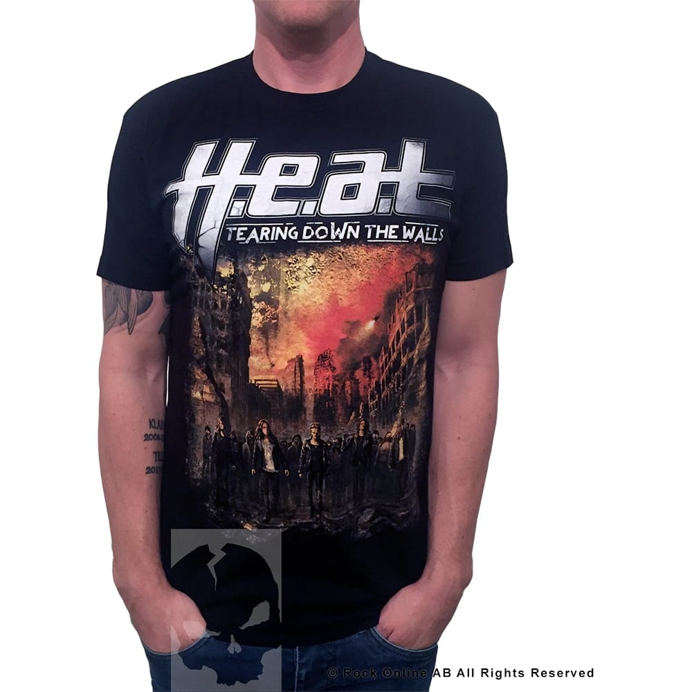 H.E.A.T Tearing Down The Walls T-Shirt