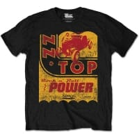 ZZ Top Speed Oil Rock N Roll Power T-Shirt, Medium
