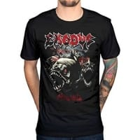 Exodus Piranha T-Shirt, Medium
