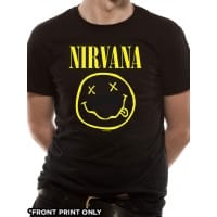 Nirvana Smiley T-Shirt, Medium