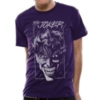 Batman The Joker Lila T-Shirt, Medium