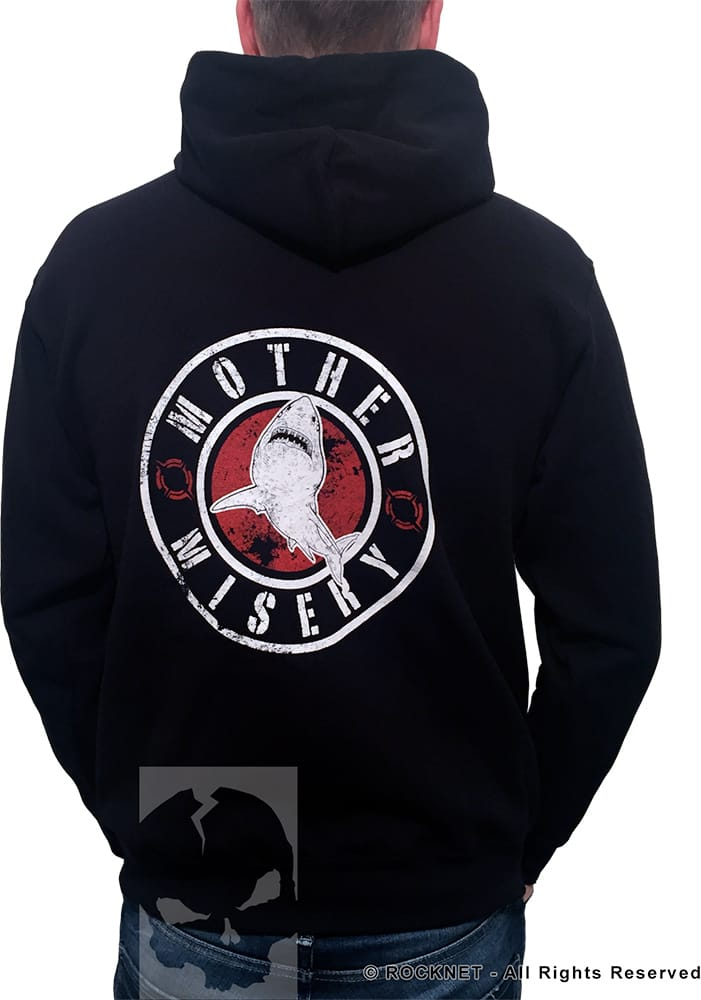 Mother Misery Red Shark Hoodie