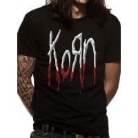 Korn Dripping Logo T-Shirt, Medium