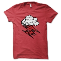 The Hellacopters Grace Cloud Red T-Shirt, Medium