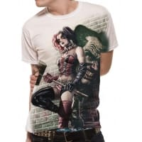 Batman Harley Quinn Wall Art T-Shirt, Medium