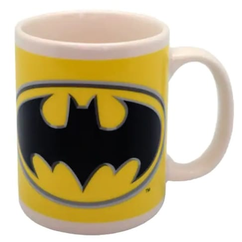 Batman Logo on Yellow Mugg