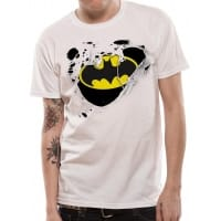 Batman Torn Logo T-Shirt, Medium