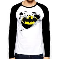 Batman Torn Logo Baseball, Medium
