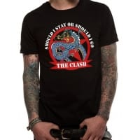 The Clash Should I Stay Dragon T-Shirt, Medium