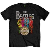 The Beatles Sgt Pepper Black T-Shirt, Medium