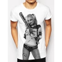 Suicide Squad Harley Photo Sublimation T-Shirt, Medium