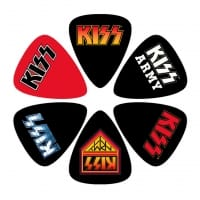 KISS Gitarrplektrum 6-pack