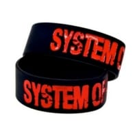 System Of A Down Armband i gummi