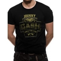 Johnny Cash Walk The Line T-Shirt, Medium