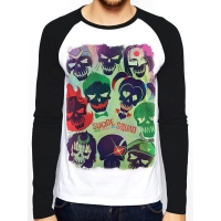 Suicide Squad Poster Long Sleeve, Medium