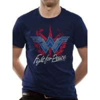 Wonder Woman Fight For Peace T-Shirt, Medium