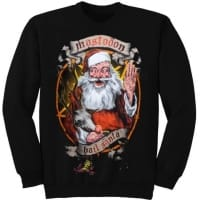 Mastodon Hail Santa Holiday Sweatshirt, Medium