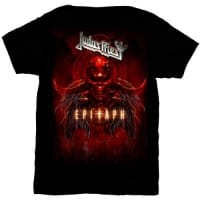 Judas Priest Epitaph Red Horns T-Shirt, Medium