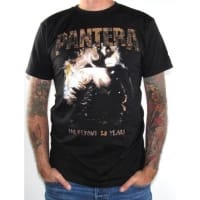 Pantera Original Far Beyond 20 Years T-Shirt, Medium