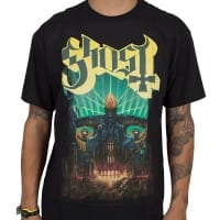 Ghost Meliora Yellow T-Shirt, Medium