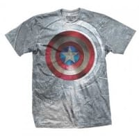 Captain America Civil War Shield T-Shirt, Medium