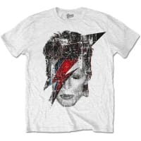 David Bowie Halftone Flash Face T-Shirt, Medium