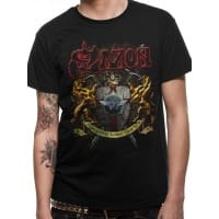 Saxon Thunderbolt T-Shirt, Medium