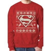 Superman Fair Isle Sweatshirt, Medium