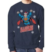 Superman Be A Hero This Christmas Sweatshirt, Medium