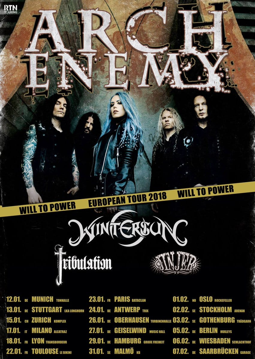 Arch Enemy + Wintersun + Tribulation m.fl.