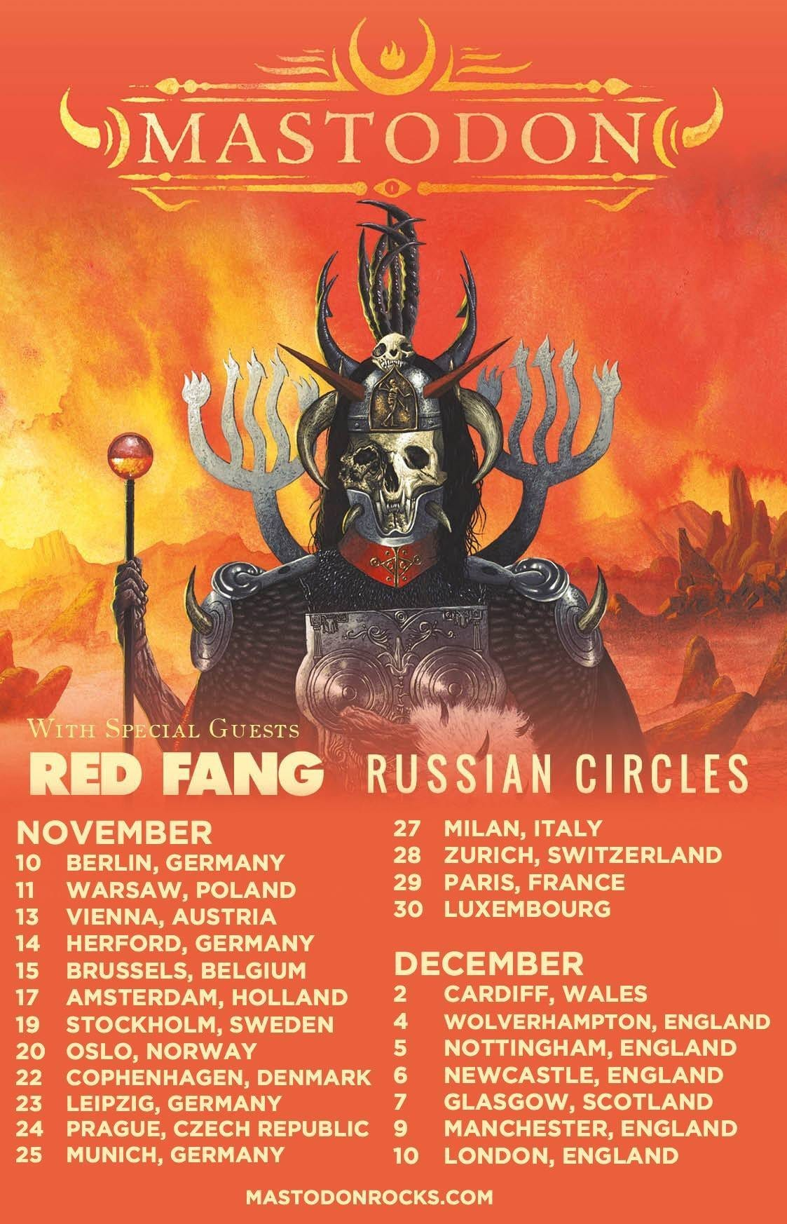 Mastodon + Red Fang + Russian Circles